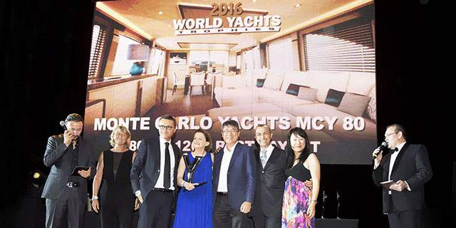 "MCY 80 wins  ""Best Layout""MCY 80 at the World Yacht Trophies in Cannes"