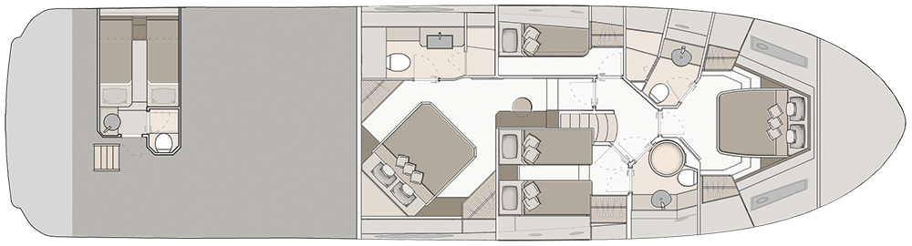 Lower Deck 4 Cabins