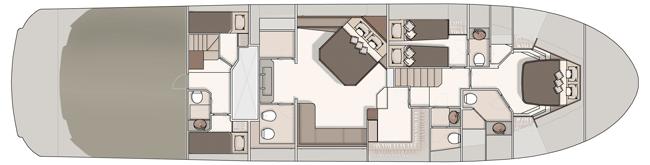Lower deck - 3 cabins