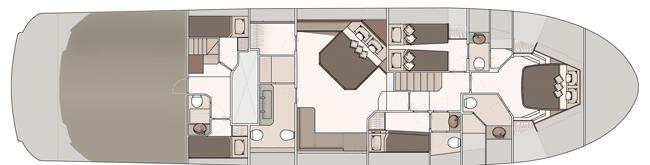 Lower deck - 4 cabins