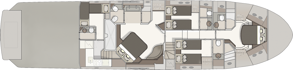 Lower Deck 4 Cabins
